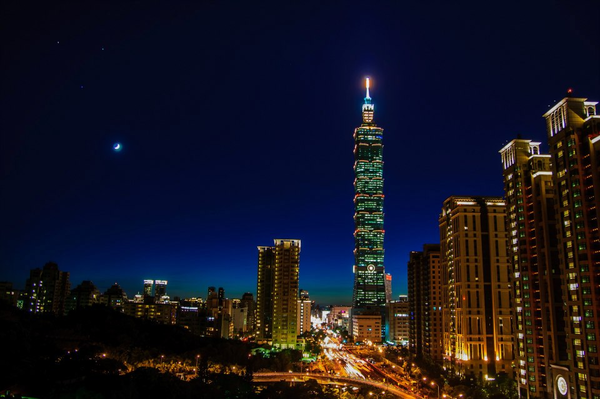"Taipei city at night by Chia-Da ""Ada"" Hsu"